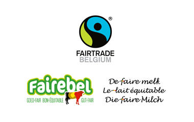 Le lait chocolaté Fairebel avec du cacao Fairtrade